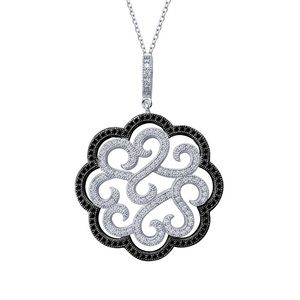 LAFONN Ornate large Necklace in black and white